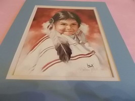 SIGNED NATIVE AMERICAN LITHOGRAPH BY BARBARA ELLIOTT - $7.92