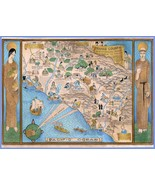 Orange County Historical Map Santa Ana 1929 pictorial  POSTER 8672 - $15.84