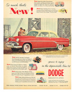 Vintage 1954 Magazine Ad Dodge Elegance In Action Dependable New For '54 - $5.93