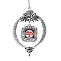 Inspired Silver Ski Patrol Classic Holiday Decoration Christmas Tree Ornament - $14.69