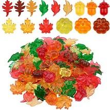 130 Pieces Mini Acrylic Leaves Pumpkin Acorns Autumn Party Table Scatter... - $19.09