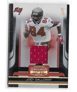 2006 Donruss Gridiron Gear Joey Galloway X's Game Worn Jersey Card 026/100 - $6.95