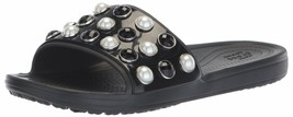 Crocs Women's Sloane Timeless Pearl Slide Sandal 5 Black - $34.65