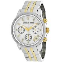 Michael Kors Women's Watch MK5057 Ritz Two-Tone Mother of Pearl Chronograph - $159.00