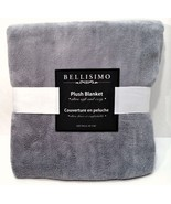 "Bellisimo Plush Blanket Silver Gray 50"" x 60"" Ultra Soft & Cozy Large Throw - $24.74"