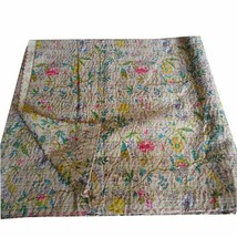 Indian Handmade Quilt Reversible Paradise Kantha Bedspread-Throw-Cotton ... - £32.63 GBP