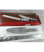 Home For The Holidays Serving Set With Snow Man Handles Knife & Server N... - $14.84