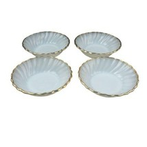 "Fire King Anchor Hocking White Swirl Set of 4 Dessert Fruit Bowls 4 7/8""... - $13.85"