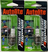 Set of 2 Autolite XST255 Xtreme Start Iridium Spark Plugs CJ8, 5843, BM6A, BM6Y