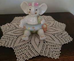 "LENOX Porcelain Elephant Figurine/Shelf Sitter ~ ""Summer Fun"" ~ 4"" Tall - $31.68"