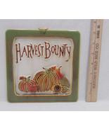 Wall Hanging Trivet Harvest Bounty Thanksgiving Autumn Fall Ceramic R. Walter - $10.88