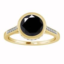 1.40 Ct Round Cut Diamond 14K Yellow Gold Over Bezel Set Engagement Wedd... - $76.89
