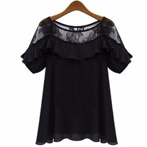 2018 Zanzea Women Sexy Blouses Tops Casual Loose Blusas O Neck Short Sleeve Holl - $42.30