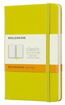 New Moleskine Classic Pocket Ruled Hardcover Notebook Dandelion Yellow 3.5 x 5.5