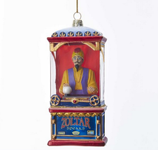 "5.5"" KURT ADLER ZOLTAR FORTUNE TELLER ARCADE MACHINE GLASS CHRISTMAS ORN... - $24.88"