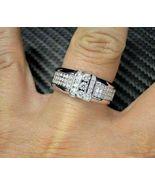 Men's Engagement Ring Band 14K White Gold Finish Round Cut 2.50 Ct Diamond - $110.99
