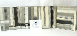 Original Art Abstract Modern 4 Canvas Panel Acrylic Paintings Signed Registered - $8,316.00