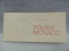 Dodge Polara Monaco 1972 Owners Manual 16345 - $18.76