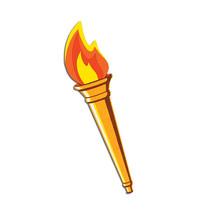 "Beistle Party Decoration Torch Cutout 24"" - 24 Pack - $25.37"