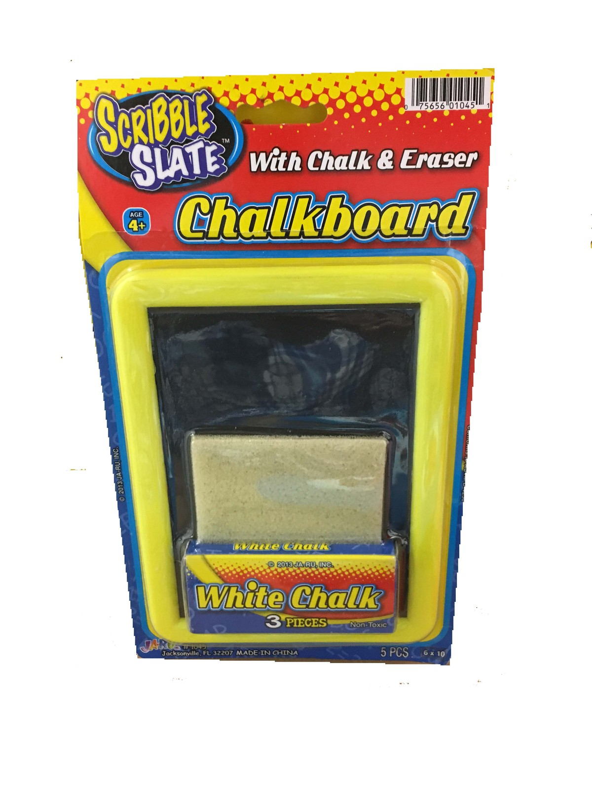 Primary image for SCRIBBLE SLATE CHALKBOARD WITH CHALK AND ERASER - 3 PIECES WHITE CHALK NON-TOXIC