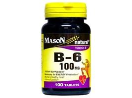 100 Tablets B-6 B6 100Mg Vitamin B Energy Production, Healthy Heart & Ne... - $8.37