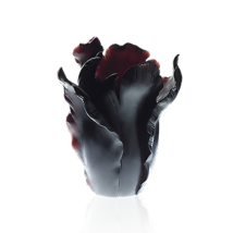 Daum  Black large Tulipe appaloosa vase Crystal 03574-5  France NEW - $4,752.00