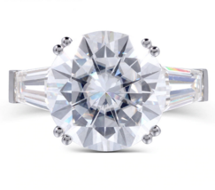8.00ct Round Cut Moissanite, Classic Engagement Ring, Available in White... - $1,850.00+