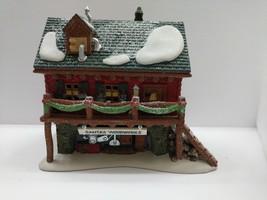 Dept 56 Heritage Village North Pole Series Lighted Santa's Woodworks #56... - $19.79