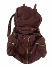 ALEXANDER WANG Marti Lambskin Leather Backpack Rare Burgundy Purse Bag image 2