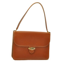 CHRISTIAN DIOR Leather Vintage Shoulder Bag Brown Auth ar1849 - $280.00
