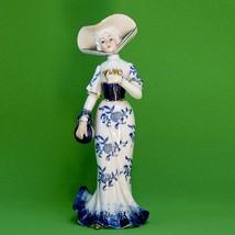 "Vintage 9"" Porcelain Victorian Lady Figurine Marked KPM Below A Crown - $8.95"