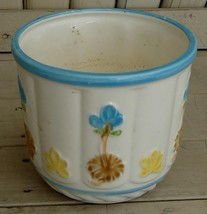 Very Cute Ceramic Hand Painted Planter Pot, Japan, VG COND - $11.87