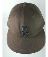 New Era 59Fifty Boston Red Sox B Brown Fitted Cap Hat - $16.31