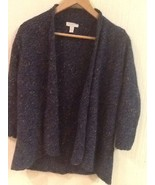 Charter Club Womens Petite P Open-Front Dark Blue Cardigan Sweater EUC - $14.95