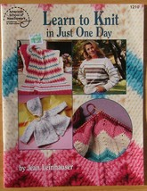 American School of Needlework Learn to Knit in just One Day 1210 - $6.44
