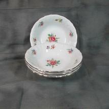"""4 Vintage Winterling Bavaria 5"""" Berry Bowls Meissen Gardens (?), 48, 63, 82 - $13.09"""