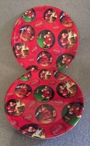 Coca Cola Santa Claus GIBSON Christmas Melamine Plates (Set of 5) USED - $25.99