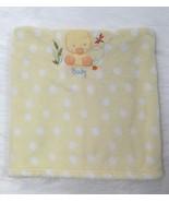 Just Born Baby Blanket Yellow White Polka Dot Duck Boy Girl Micro Fleece... - $21.99