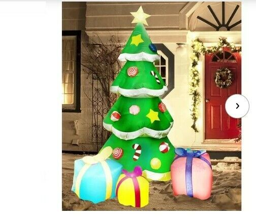 Primary image for NEW Large Christmas Tree 7Ft Tall w/ Gifts Inflatable Lighted Yard Decor Outdoor