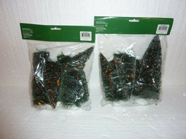 Lot of 2 New Dept 56 Decorated Sisal Trees Bags of 7 Total 14 Trees S-40 - $19.34