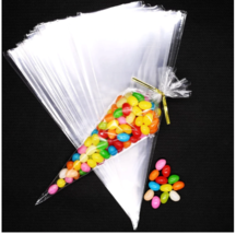 100pcs Transparent candy packing Bags Wedding Birthday Party Decoration ... - $4.99+