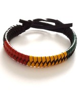 RASTA JAMAICAN REGGAE LEATHER ADJUSTABLE FRIENDSHIP BRACELET WRISTBAND S... - $6.93