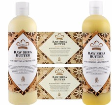 Raw Shea Butter Soap, Lotion & Body Wash Gift Set . by Nubian Heritage ... - $29.69