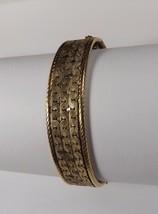 BEAUTIFUL VINTAGE RHYTHM 12 K GOLD FILLED BANGLE BRAIDED EDGE PATTERNED ... - $55.99