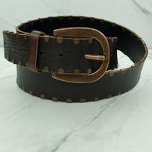Fossil Studded Leather Brown Bronze Belt Size Medium Womens - $24.80