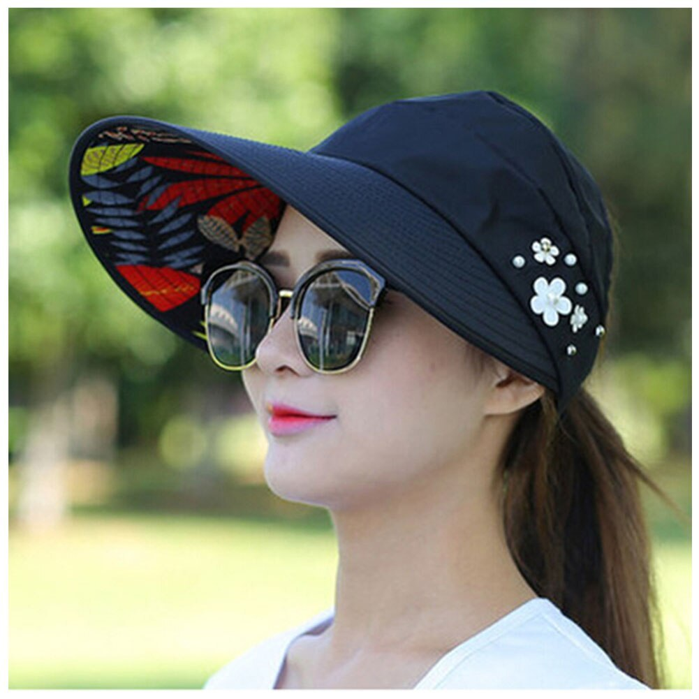 Summer Style Women Foldable Wide Large Brim Floppy Beach Gorro Hats Chapeu Outdo