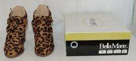 Bella Marie Vermont 61 Leopard Suede Double Buckle Plus Zipper Size 6 image 1