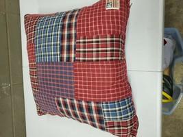 Vintage Ralph Lauren 17.5x17.5 Down Plaid Throw Pillow (c22) - $46.74