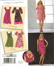 Misses Career Office Day Night Square Neckline Dress Jumper Sew Pattern 16-24 - $12.99
