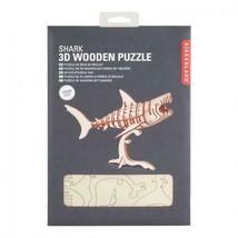 Shark 3D Wooden Puzzle Kikkerland Balsa Wood Laser Cut Pieces Ocean - $11.99